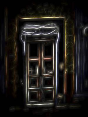 Poster featuring the digital art Secret Doorway by William Horden