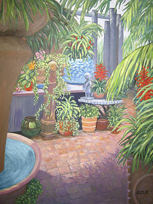 Poster featuring the painting Secret Garden by Karen Zuk Rosenblatt