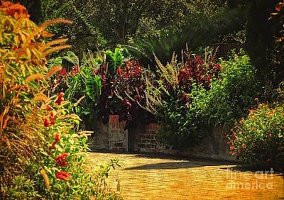 Poster featuring the photograph Secret Garden Path by Kathy Baccari