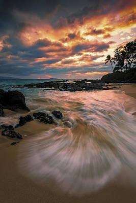 Secret Sunset Poster by Hawaii  Fine Art Photography