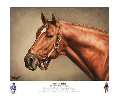 Secretariat Legendary Champion Poster by Thomas Allen Pauly