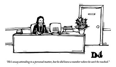 Secretary Responding To A Business Call Poster