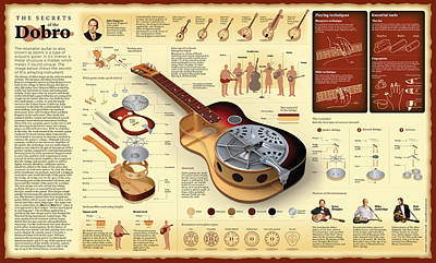Secrets Of The Dobro Wall Chart Poster by Andras Dancsak