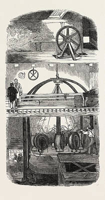 Section Of The Manufactory Poster by English School
