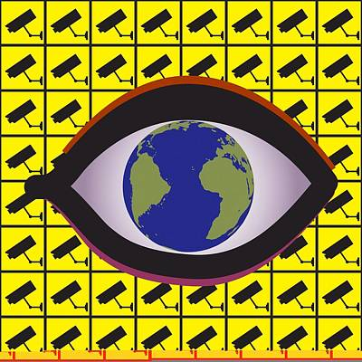 Security Surveillance, Conceptual Image Poster by Science Photo Library