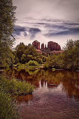 Poster featuring the photograph Sedona Arizona - Mountain's Majesty ... by Chuck Caramella