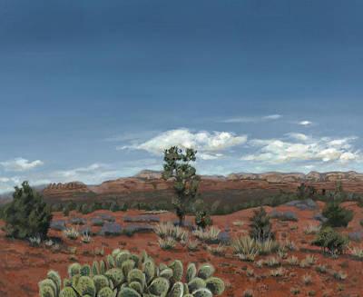 Sedona Cactus Az Poster by Edward Williams