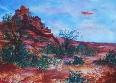 Sedona Red Rocks - Impression Of Bell Rock Poster by Ellen Levinson