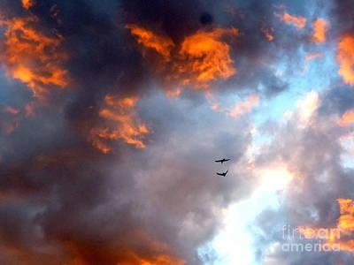 Sedona Sunset Ravens Poster