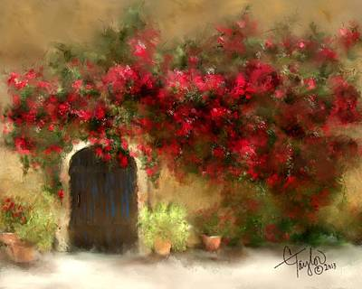 The Bougainvillea's Of Sedona Poster by Colleen Taylor