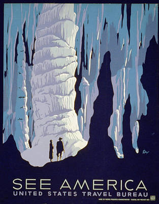 See American Caverns Poster by Alexander Dux