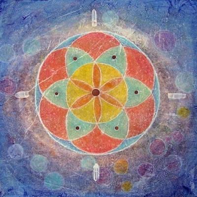 Seed Of Life Mandala Poster