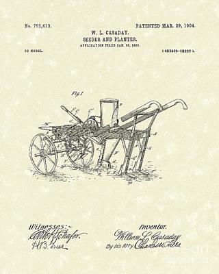 Seeder/planter 1904 Patent Art Poster by Prior Art Design