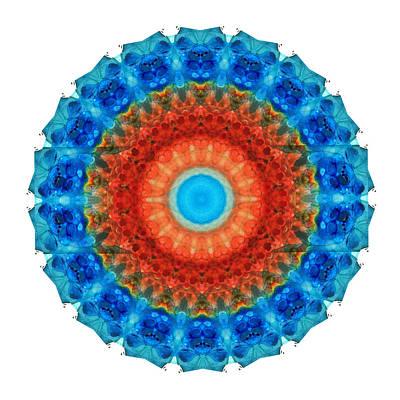 Seeing Mandala 2 - Spiritual Art By Sharon Cummings Poster by Sharon Cummings
