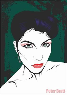 Seffana  Portrait Of A Fetish Model Poster by Peter Bratt