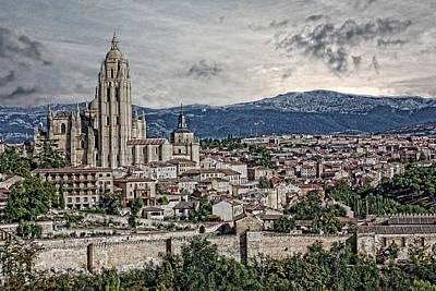 Poster featuring the photograph Segovia by Angel Jesus De la Fuente