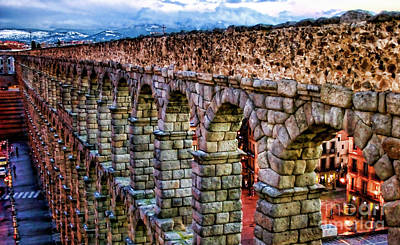 Segovia Aqueduct Spain By Diana Sainz Poster by Diana Sainz