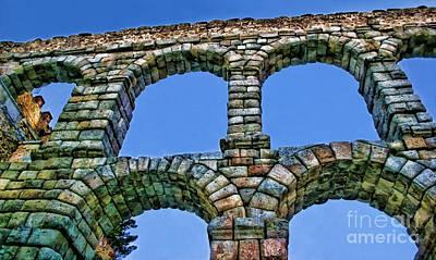 Segovia Aqueducts Blue By Diana Sainz Poster by Diana Sainz