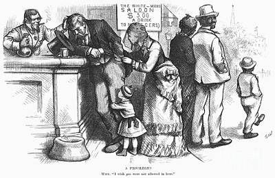 Segregated Saloon, 1875 Poster by Granger