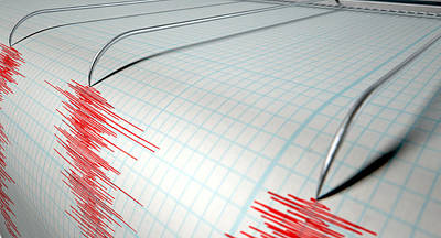 Seismograph Earthquake Activity Poster by Allan Swart
