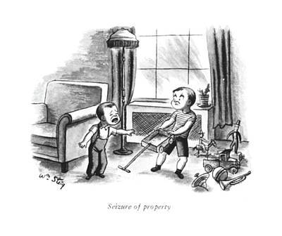 Seizure Of Property Poster by William Steig