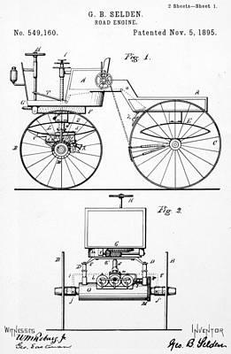 Selden Road Engine, 1895 Poster