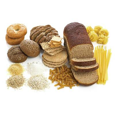 Selection Of Breads And Pastas Poster