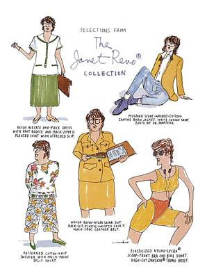 Selections From The Janet Reno� Collection Poster by Michael Crawford
