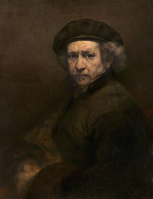 Self-portrait, 1659 Oil On Canvas Poster by Rembrandt Harmensz. van Rijn