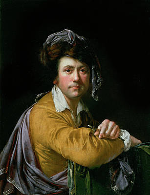 Self Portrait At The Age Of About Forty, C.1772-3 Poster by Joseph Wright of Derby