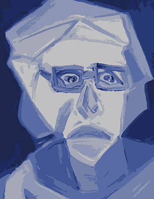 Self Portrait In Cubism Poster