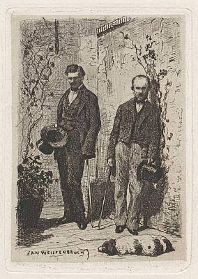 Self Portrait Of Frederik Hendrik Weissenbruch Poster