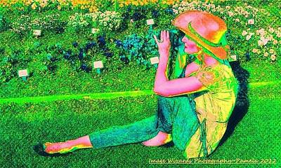 Self Portrait On The Arboretum Grounds In Spring Poster by ARTography by Pamela Smale Williams