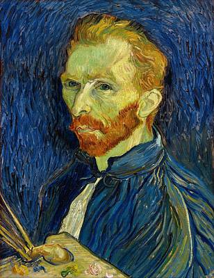 Poster featuring the painting Self Portrait With Palette by Vincent Van Gogh
