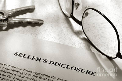 Seller Property Disclosure Poster by Olivier Le Queinec