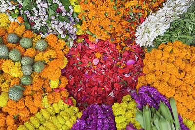 Selling Flowers For Diwali, Festival Poster by Keren Su