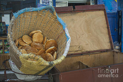 Selling Pita Bread Poster by Patricia Hofmeester
