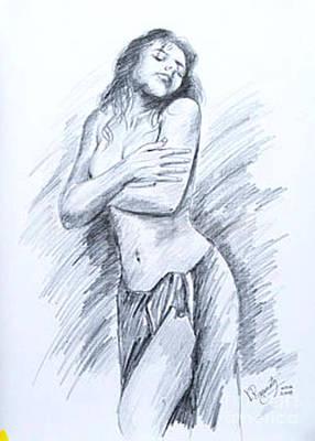 Semi Nude Poster by Ragunath Venkatraman