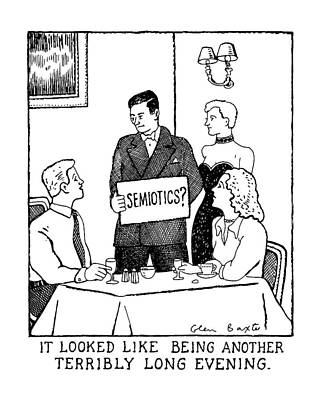 'semiotics? It Looked Like Being Another Terribly Poster by Glen Baxter
