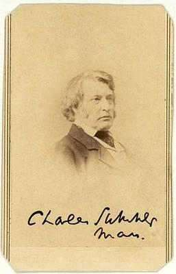 Senator Charles Sumner, Carte De Visite Poster by Everett