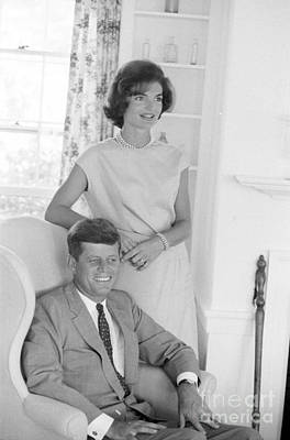 Senator John F. Kennedy And Jacqueline At Hyannis Port 1959 Poster by The Harrington Collection