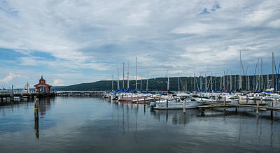 Seneca Lake Harbor - Watkins Glen - Wide Angle Poster
