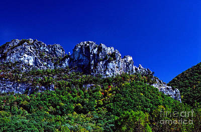 Seneca Rocks With The Gendarme Poster by Thomas R Fletcher