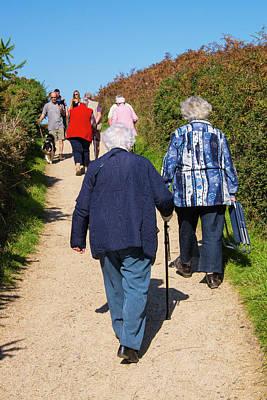 Senior Women Walking Poster by Lea Paterson