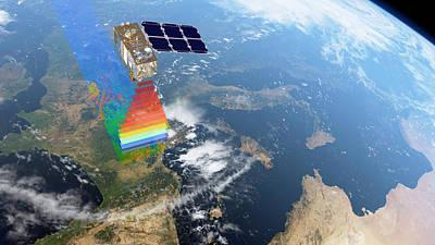 Sentinel-2 Satellite In Orbit Poster by Atg Medialab/esa