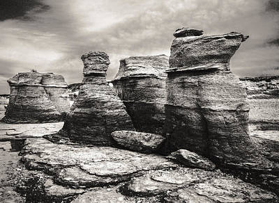 Poster featuring the photograph Sentinel Rocks by Arkady Kunysz