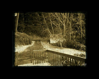 Poster featuring the photograph Sepia - Country Road First Snow by Absinthe Art By Michelle LeAnn Scott
