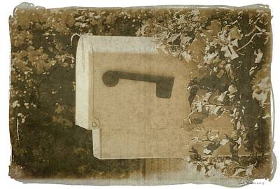Sepia Mailbox Poster by Rudy Umans