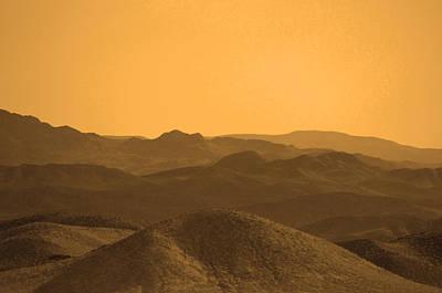 Sepia Mountains Poster