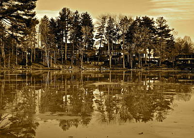 Sepia Reflection Poster by Frozen in Time Fine Art Photography